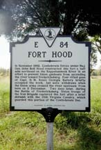 sign about Fort Hood