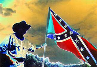 man with confederate flag